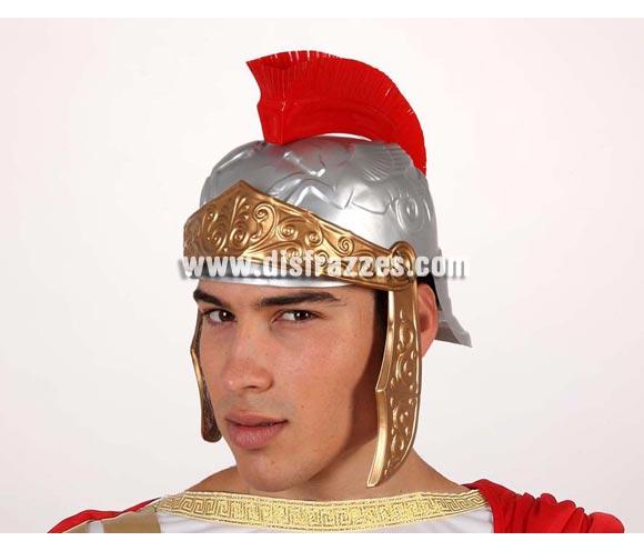 Casco Romano de PVC con cresta roja.