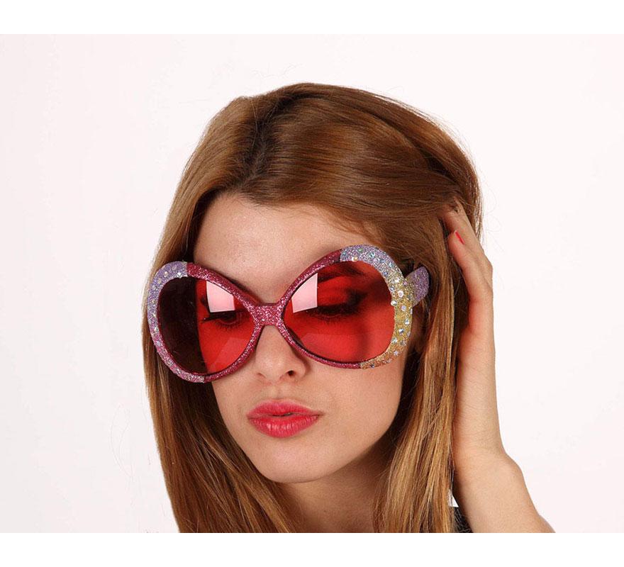 Gafas Años 60, 70 y 80 de lentejuelas.