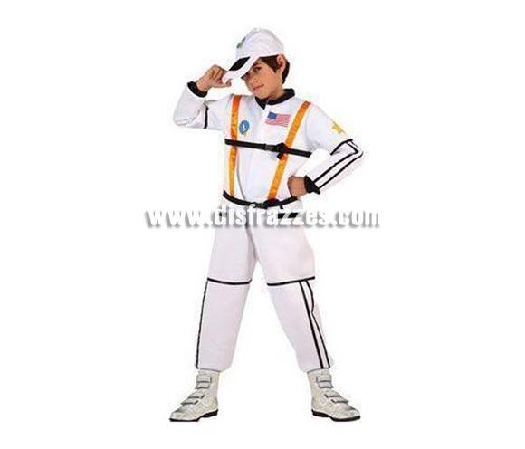 Disfraz de Astronauta para niños de 3 a 4 años. Incluye mono impreso y gorra.