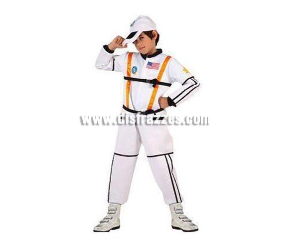 Disfraz de Astronauta para niños de 5 a 6 años. Incluye mono impreso y gorra.