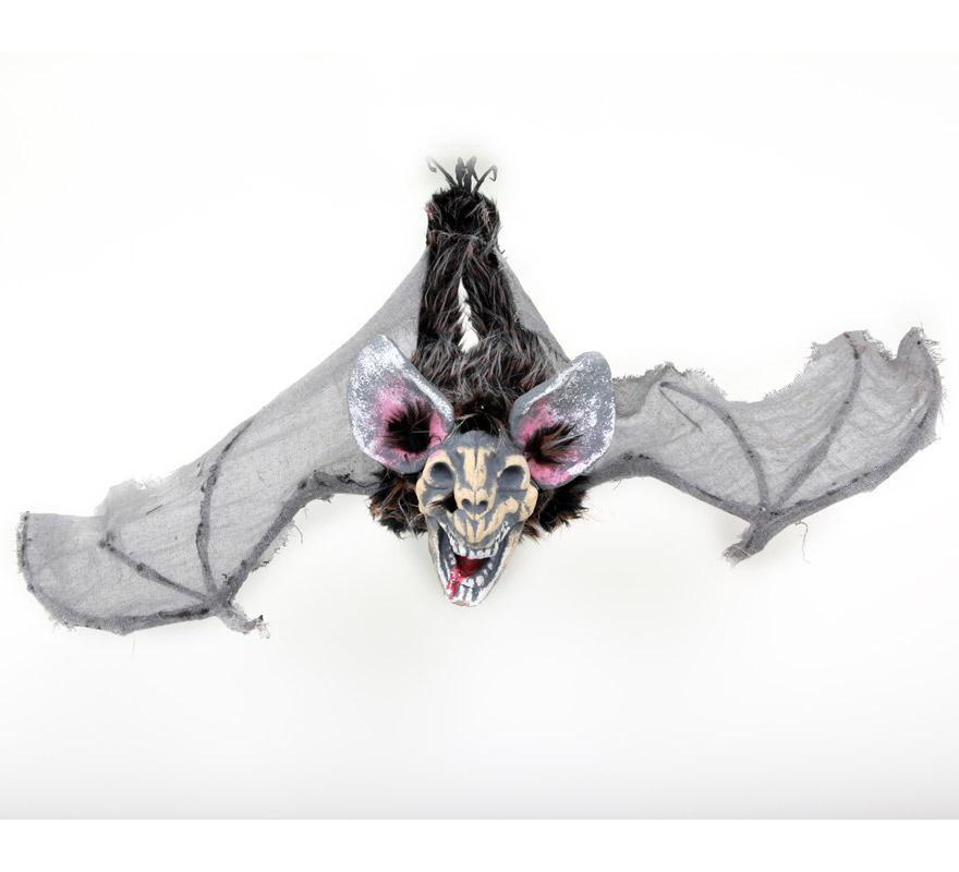 Monstruo con alas para colgar de color gris de 20x21,5x56 cm. para Halloween.