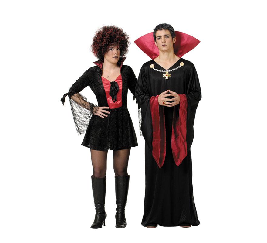 Túnica Gótica hombre para Halloween. Talla Universal adulto. Incluye túnica y cuello. Fabricado en España.