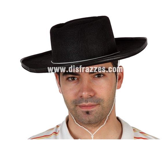 Sombrero Cordobés negro de fieltro. Ideal para Fiestas flamencas.
