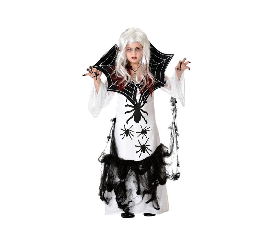 Disfraz de Mujer Araña para niñas. Varias tallas. Incluye vestido y telaraña. Peluca NO incluida, podrás verla en la sección de Complementos.
