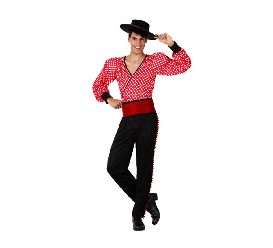 Disfraz barato de Flamenco rojo para hombres talla M-L