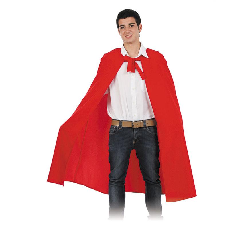 Capa roja para adultos. Talla Universal adultos. El precio incluye sólo la capa. Fabricada en España. Podría valer como Capa de Caperucita Roja.