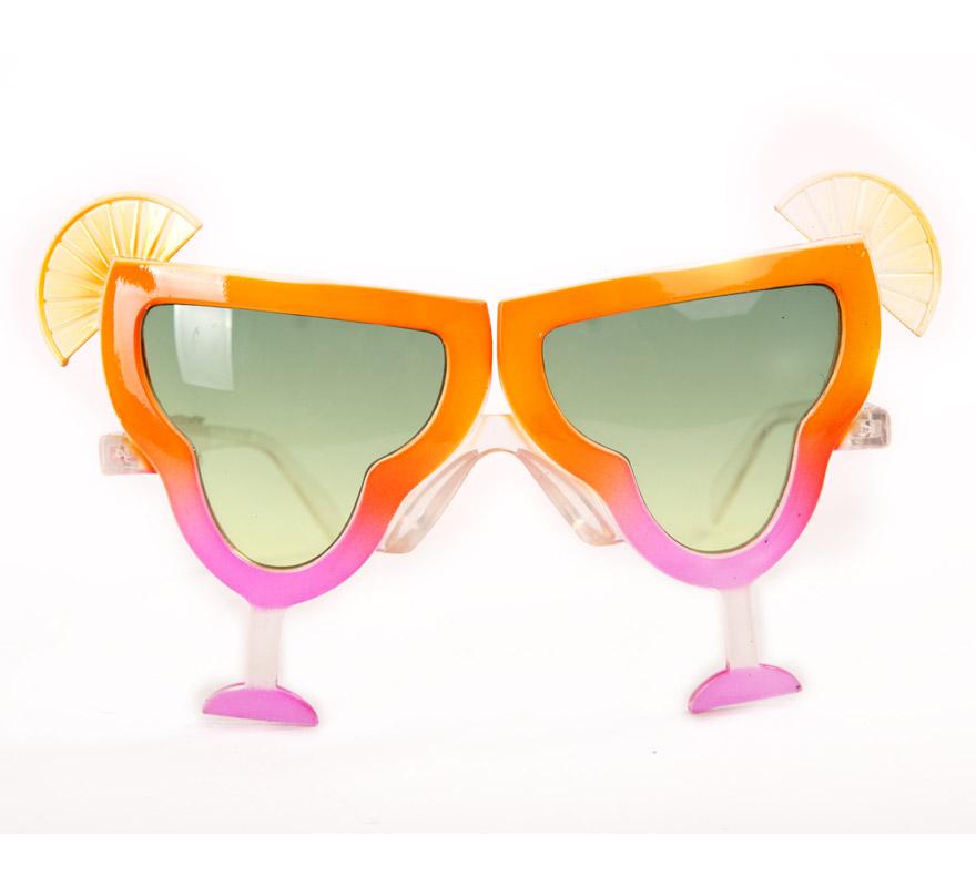 Gafas de Coctel con limón. Perfectas para Despedidas de Solteros y para Fiestas Hawaianas.