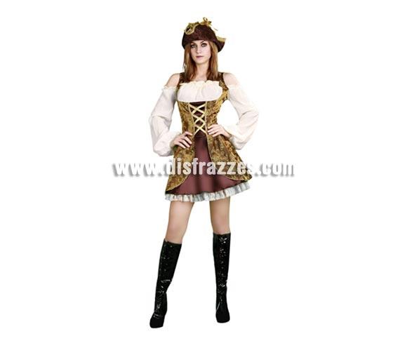 Disfraz barato de Pirata Sexy para mujer. Talla única 38/42. Incluye vestido. Cubrebotasy sombrero NO incluidos, lo podrás ver en la sección de Complementos.