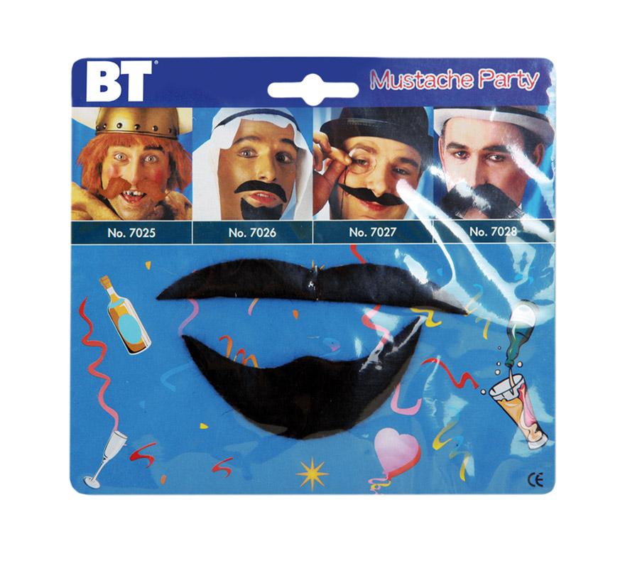 Blister bigote y perilla estilo Árabe.