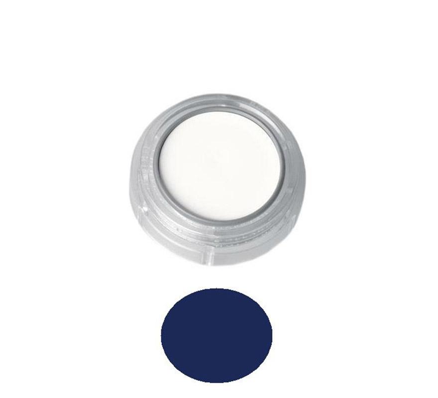 Maquillaje en crema (cremè make-up), de 2,5 ml, de color azul oscuro.  Fácil de usar, se quita con agua y jabón, antialérgico.