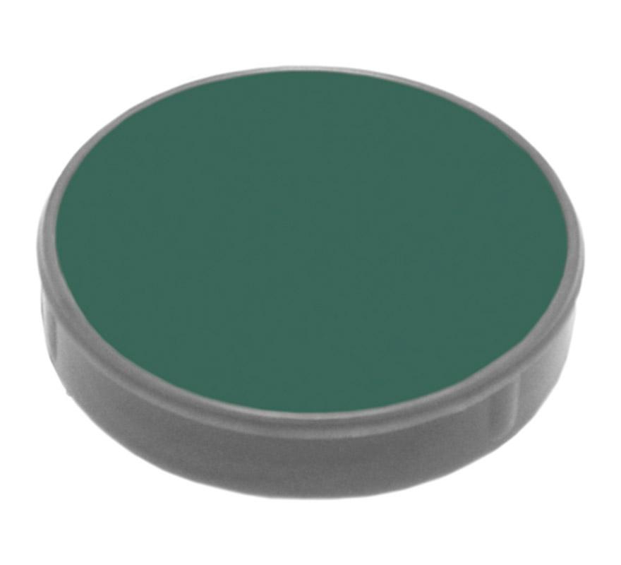 Maquillaje en crema (cremè make-up 401), de 2,5 ml, de color verde oscuro.  Fácil de usar, se quita con agua y jabón, antialérgico.