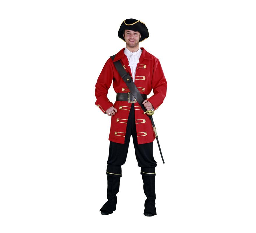 Disfraz barato de Capitán Pirata para hombre talla M-L