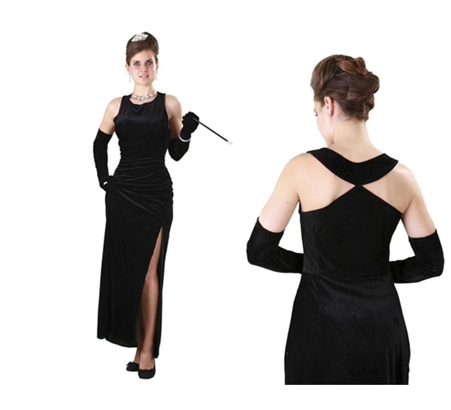 Disfraz de Estrella de Cine para mujer talla M-L 38/42. Incluye vestido y guantes. Resto de accesorios NO incluidos, podrás verlos en la sección de Complementos.