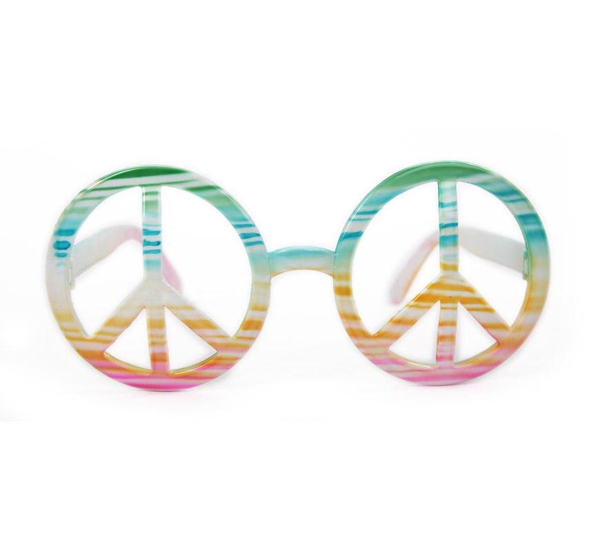 Gafas Hippie Arco Iris símbolo de la Paz. Ideales también para Despedidas de Solteros.