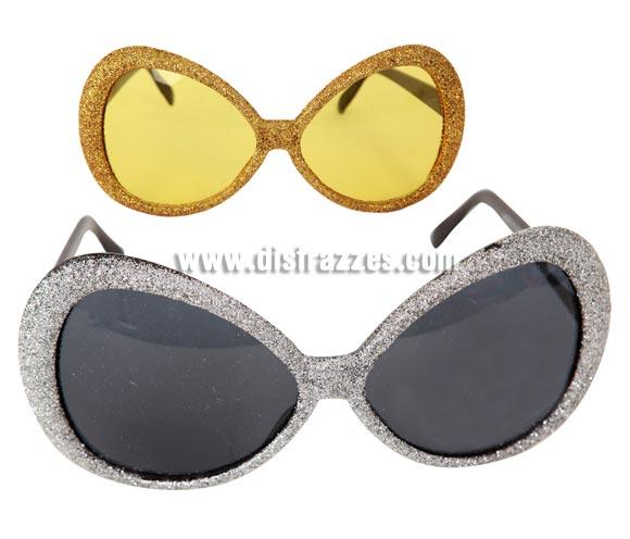 Gafas fashion años 60, 70 y 80. Disponibles en 2 colores, Oro y Plata. Precio por unidad, se venden por separado.