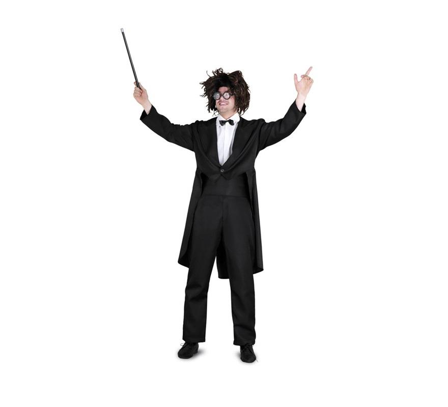 Disfraz de Chaqué para hombre. Talla standar M-L = 52/54. Incluye chaqueta, fajín y pantalón. Éste disfraz también puede ser de Frac o Smoquin e ir bien arreglado, lo que pasa es que en ésta foto han querido dar más ideas para éste disfraz, jejeje, ¡¡Qué cachondos!! Podría también ser perfecto como disfraz de Director de Orquesta.