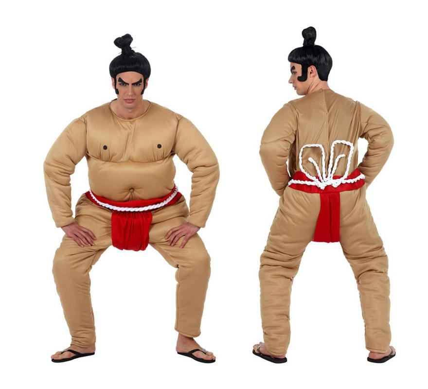 Disfraz de Luchador de Sumo para hombre. Talla 2 ó talla Standar M-L 52/54. Incluye disfraz completo. Peluca NO incluida podrás encontrarla en nuestra sección de Complementos.