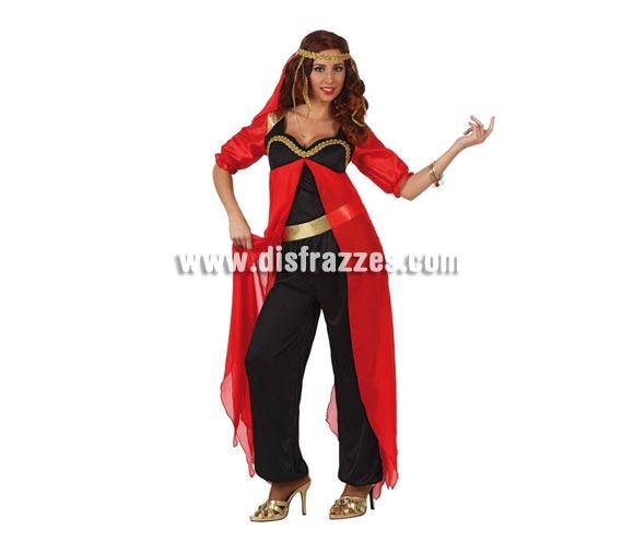 Disfraz de Princesa Árabe para mujer. Talla 2 ó talla Standar M-L 38/42. Incluye disfraz completo sin zapatos ni pulsera.