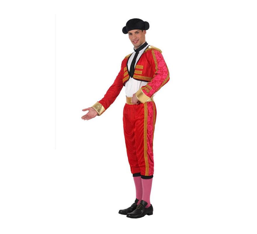 Disfraz de Torero para hombres. Talla 2 ó talla Standar M-L 52/54. Incluye disfraz completo con monterade tela, sin medias ni zapatos. Muy demandado para Despedidas de Soltero.