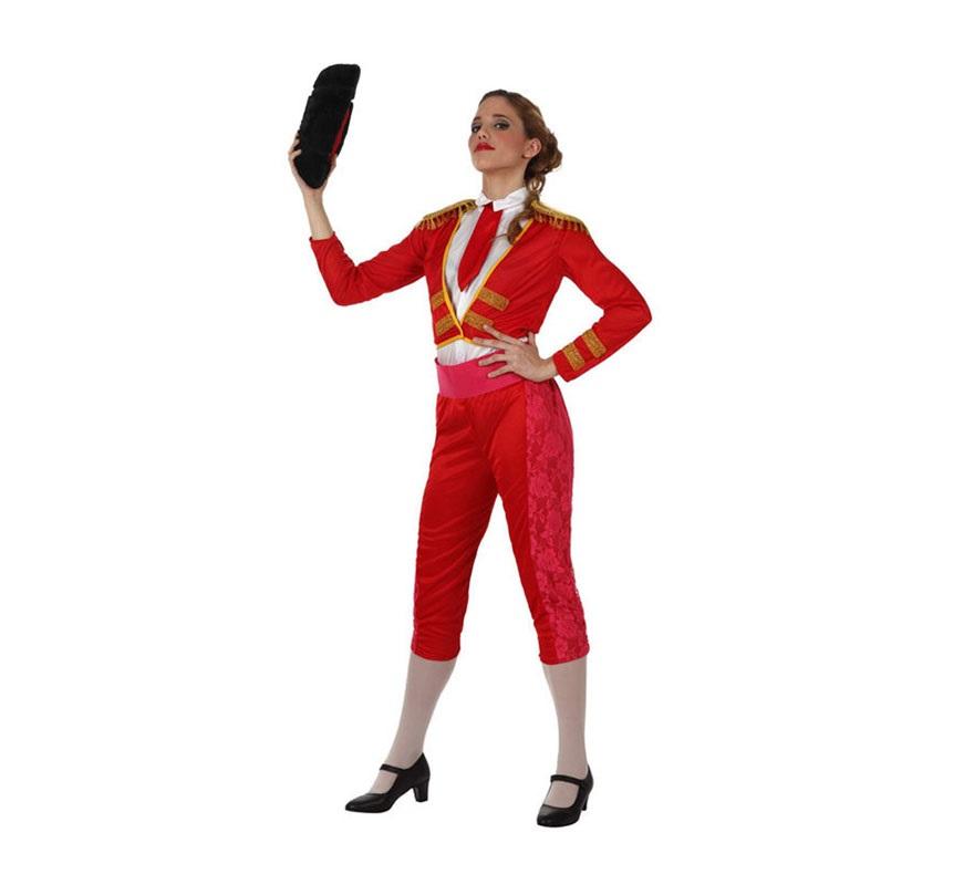 Disfraz de Torera para mujer. Talla 2 ó talla Standar M-L 38/42. Incluye disfraz completo SIN la montera, las meddias ni los zapatos. La montera la podrás ver en la sección de Complementos.