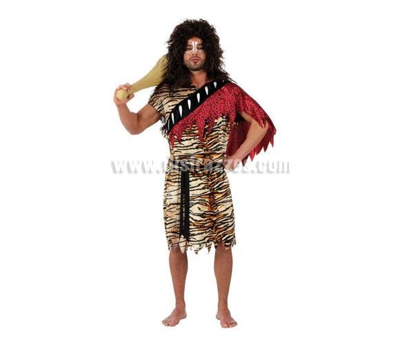 Disfraz de Cavernícola para hombre. Talla 3 ó talla XL 54/58. Incluye vestido y cinturón. Maza o Porra de Troglodita NO incluida, podrás verla en la sección de Complementos con la ref. 15062BT.