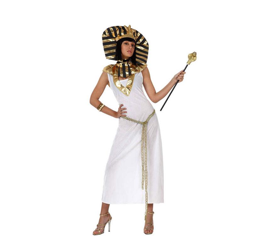 Disfraz de Faraona Egipcia para mujeres. Talla Standar M-L 38/42. Incluye disfraz. Cetro NO incluido, podrás verlo en la sección de Complementos.
