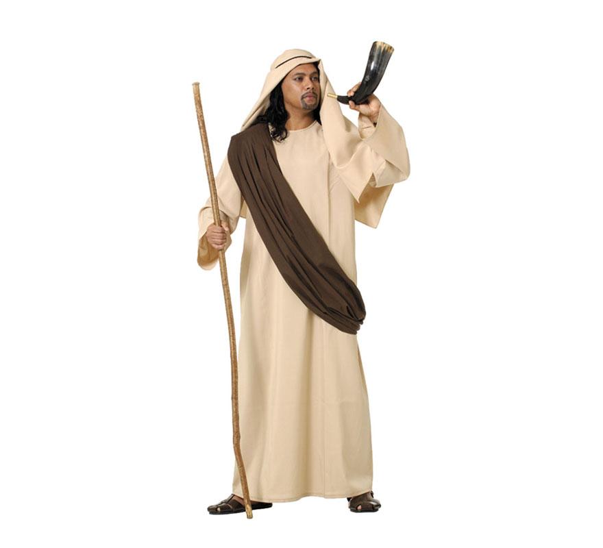 Disfraz o Traje de Samaritano para adulto. Talla 52 Universal de adultos. Incluye túnica, manto, pañuelo y cordón. Perfecto también para Cabalgatas de Reyes en Navidad. Fabricado en España.