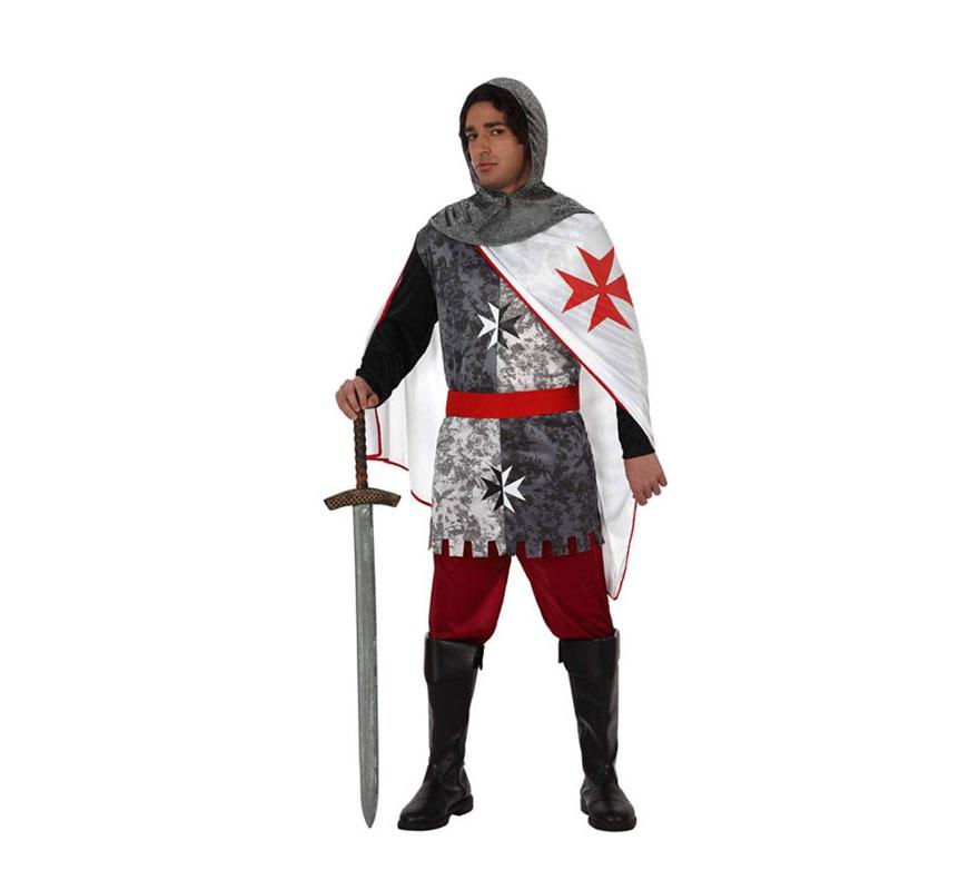 Disfraz de Soldado Medieval para hombre. Talla M-L 52/54. Incluye disfraz SIN botas y SIN espada. Podrás ver algunas espadas en la sección de Complementos. Disfraz de Caballero Medieval.