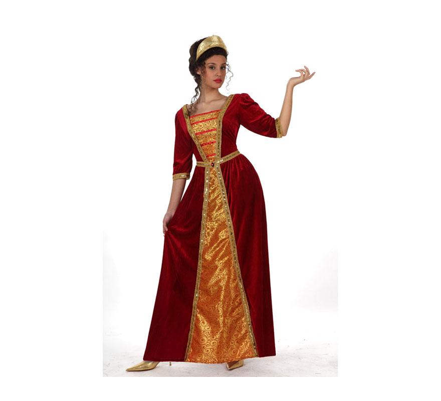 Disfraz Princesa Medieval para mujer. Talla 2 ó talla Standar M-L 38/42. Incluye vestido. Corona NO incluida, podrás encontrarla en nuestra sección de Complementos.