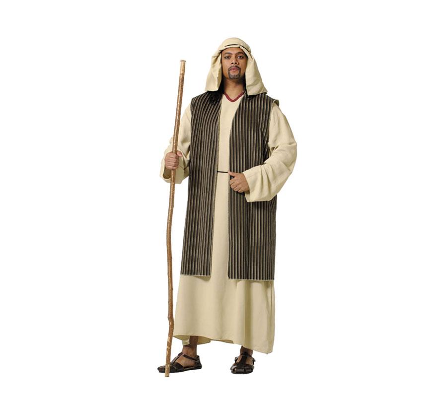 Disfraz o Traje de Hebreo adulto. Talla 52 Universal de adultos. Incluye túnica, chaleco, pañuelo y cordón. Perfecto también para Cabalgatas de Reyes en Navidad. Fabricado en España.