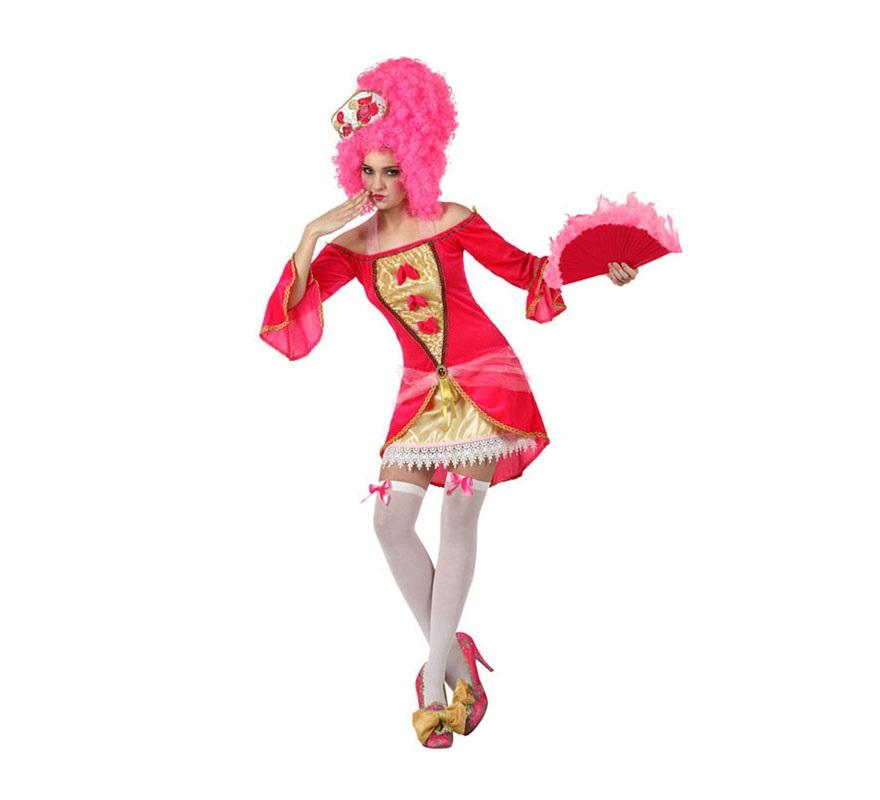 Disfraz de Cortesana Época sexy para mujer. Talla S = 34/38 para chicas delgadas y adolescentes. Incluye vestido. Resto de accesorios NO incluidos, podrás verlos en la sección de Complementos.