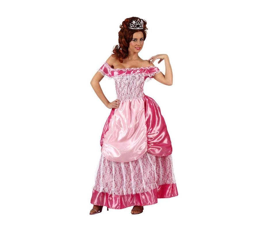 Disfraz de Dama o Princesa Medieval para mujer. Talla 2 ó talla Standar M-L 38/42. Incluye vestido con delantal.
