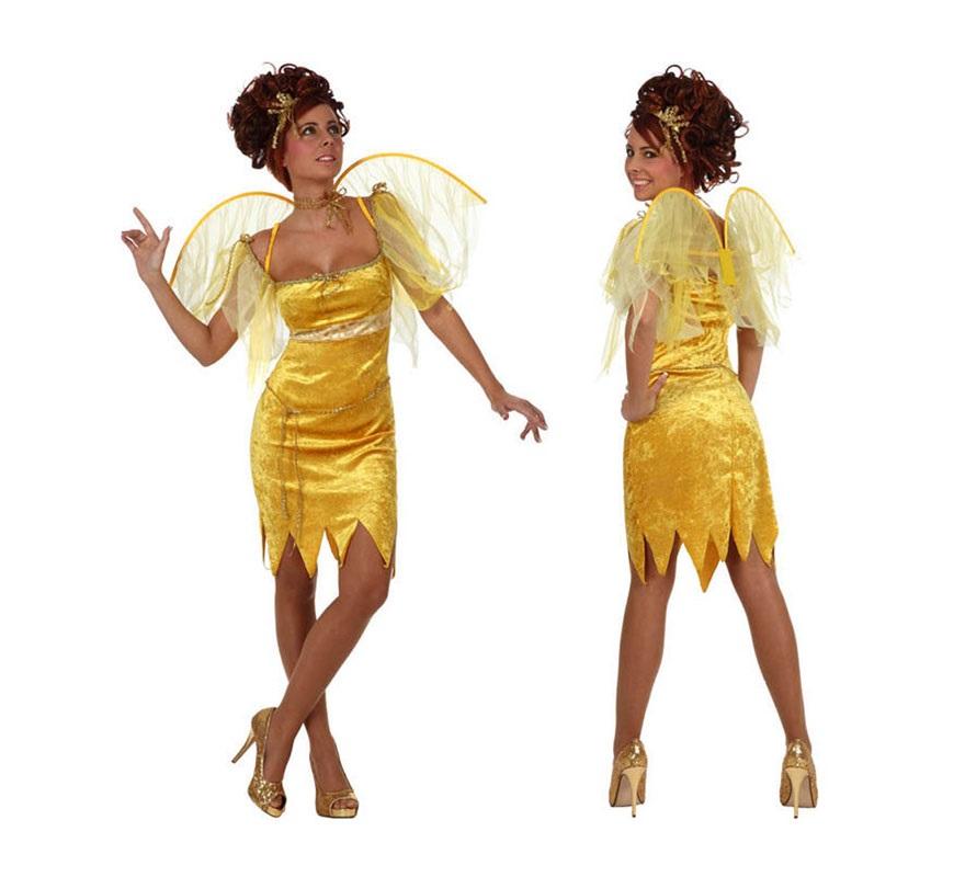 Disfraz de Hada de Verano para mujer. Talla 2 ó talla standard M-L 38/42. Incluye vestido, alas y cuerda para la cintura..