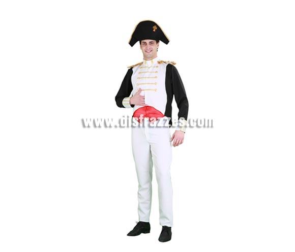 Disfraz de Napoleón para hombre. Talla standar M-L = 52/54. Incluye sombrero, chaleco, casaca y pantalón.