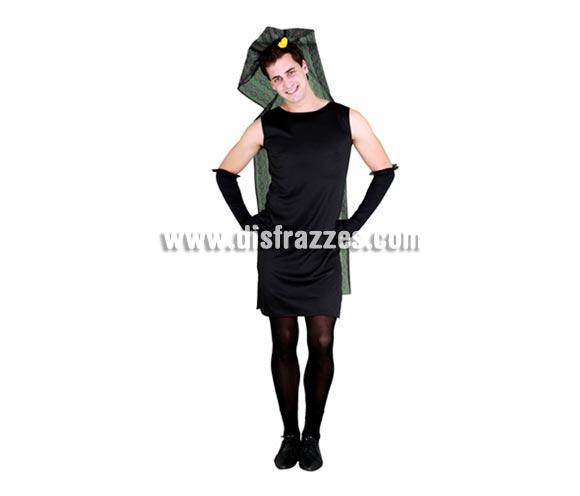 Disfraz barato de Manola para hombre. Talla standar M-L = 52/54. Incluye tocado, vestido y guantes. Disfraz de Camarera de la Virgen para hombre ideal para el Cachondeo.