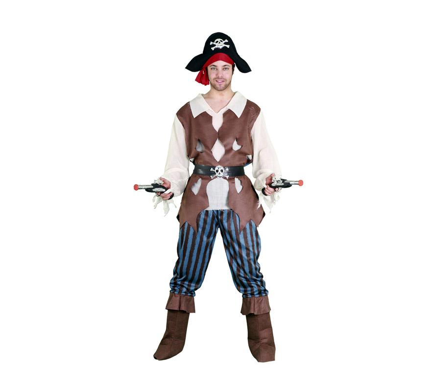 Disfraz barato de Pirata Caribeño para hombre talla M-L