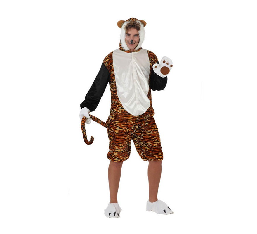 Disfraz de Tigre para hombre. Talla 2 ó talla Standar M-L 52/54. Incluye disfraz y guantes. Éste disfraz también valdría para chicas haciéndole algún arreglo.