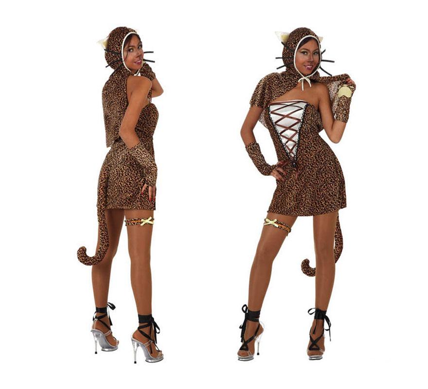 Disfraz de Chica Leopardo para mujer. Talla Standar M-L 38/42. Incluye disfraz completo SIN zapatos.