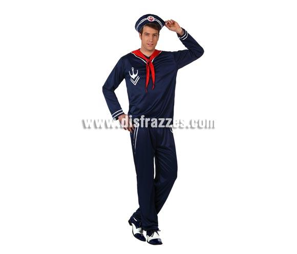 Disfraz de Marinero para hombres. Talla 3 ó talla XL 54/58. Incluye gorra, camisa, pañuelo y pantalón.