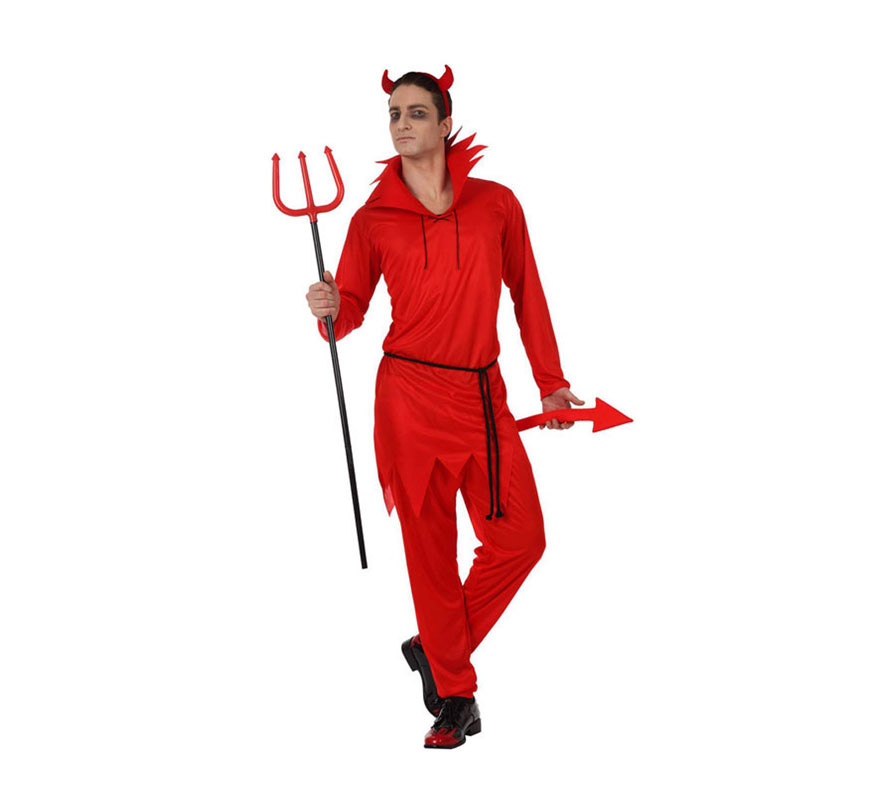 Disfraz de Demonio o Diablo para hombres. Talla M-L 52/54. Incluye disfraz completo SIN Tridente, el cual podrás ver en la sección de Complementos.