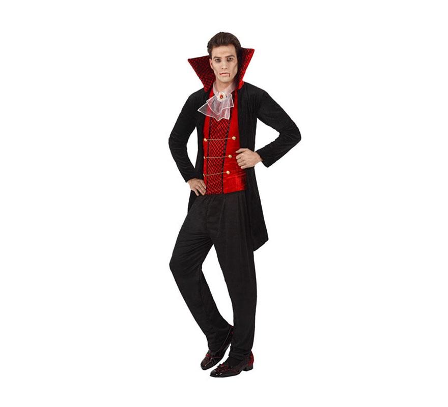 Disfraz de Vampiro elegante para hombre. Talla Standar M-L 52/54. Incluye disfraz completo.