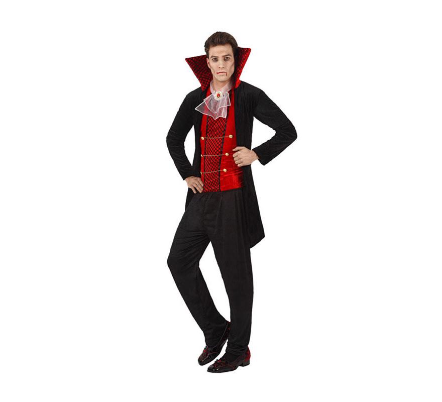 Disfraz de Vampiro elegante para hombre. Talla XL 54/58. Incluye disfraz completo.