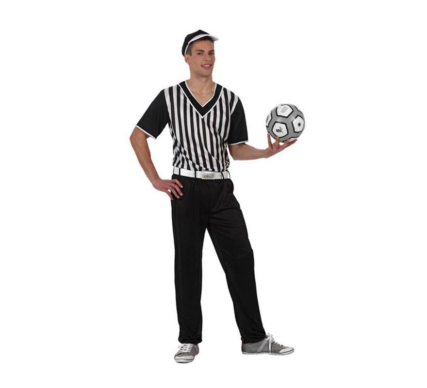 Disfraz de Árbitro de Béisbol para hombre. Talla 2 ó talla Standar M-L 52/54. Incluye pantalón, cinturón, camisa y gorra. Balón NO incluido.