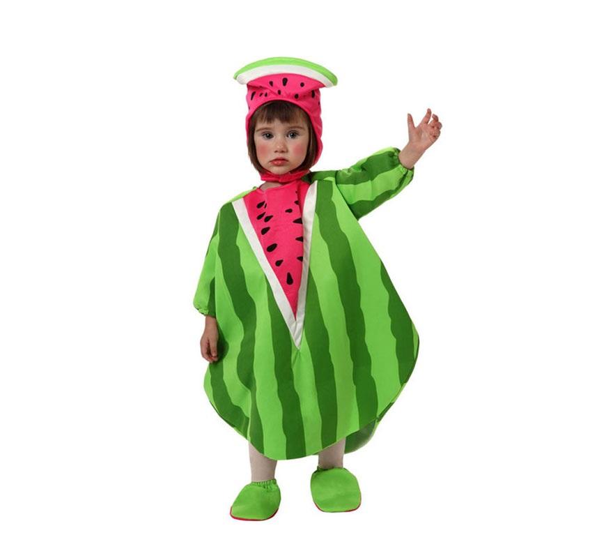 Disfraz de Sandía para bebé de 6 a 12 meses. Incluye gorro, disfraz de sandía y cubrepies.