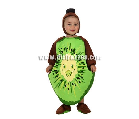 Disfraz de Kiwi para bebé de 6 a 12 meses. Incluye gorro, disfraz de kiwi y cubrepies.