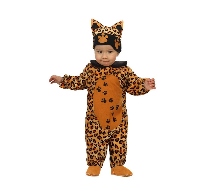 Disfraz barato de Leopardo para bebés de 6 a 12 meses. Incluye disfraz completo.