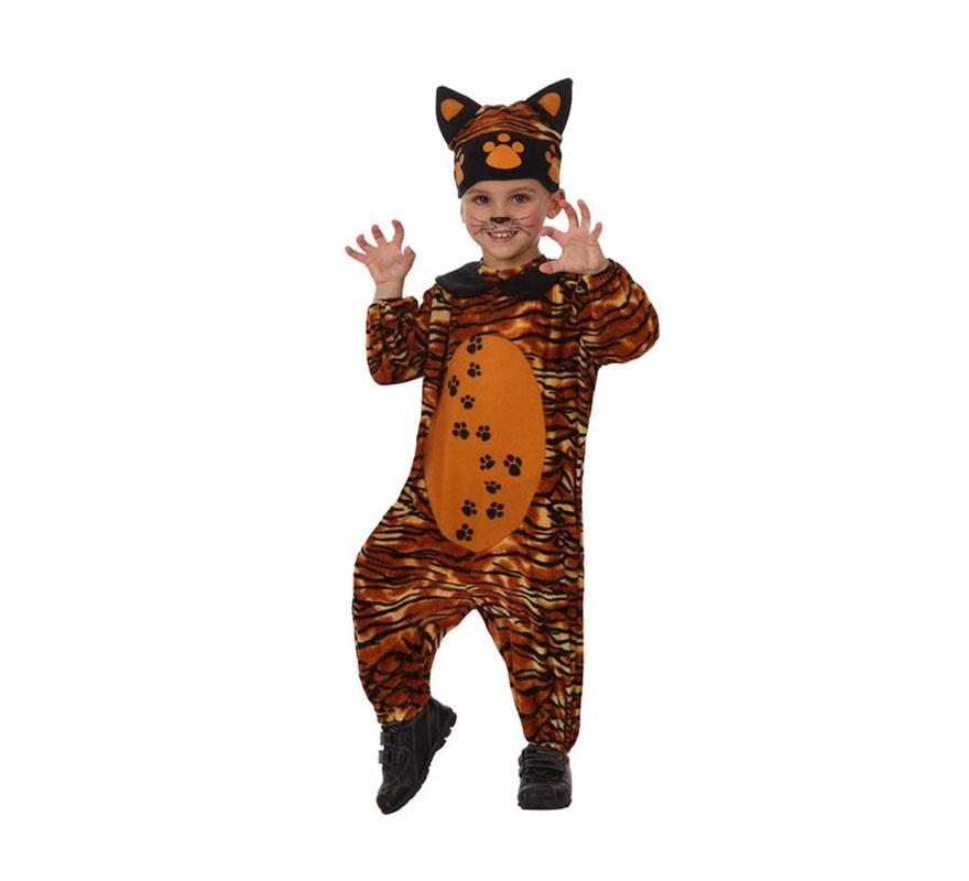 Disfraz barato de Tigre para bebés de 12 a 24 meses. Incluye disfraz completo.