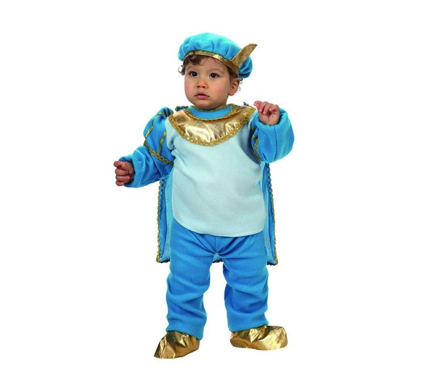Disfraz de Príncipe Azul para bebés de 6 a 12 meses. Incluye disfraz completo. Con éste disfraz de Principito Azul estará para comerselo.