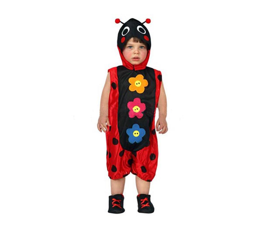 Disfraz de Mariquita para bebés talla 6 a 12 meses. Incluye disfraz completo.