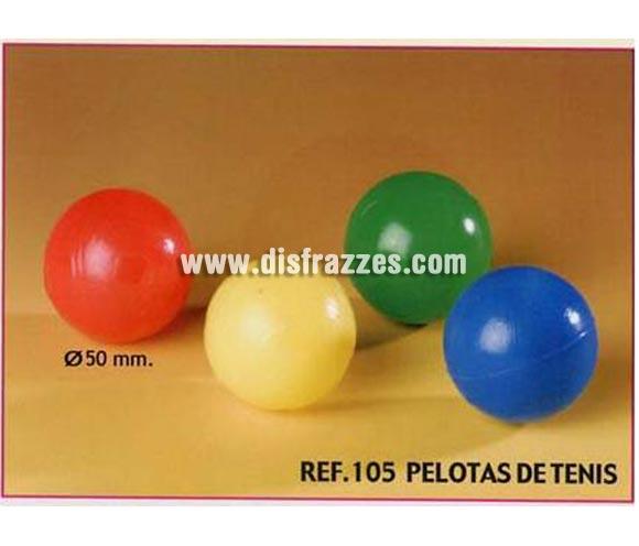 Bolsa de 25 uds. Pelotas de Tenis para Carrozas. Colores variados. También sirve como relleno de Piñatas para los Cumpleaños.